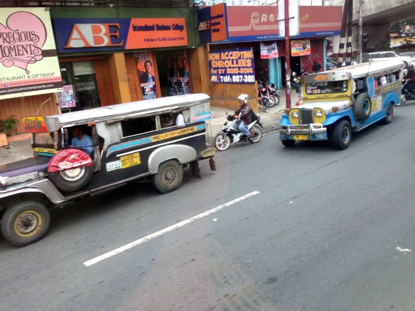 Jeepneys - the local public transportation.  Very affordable at less than 20 cents a pop.