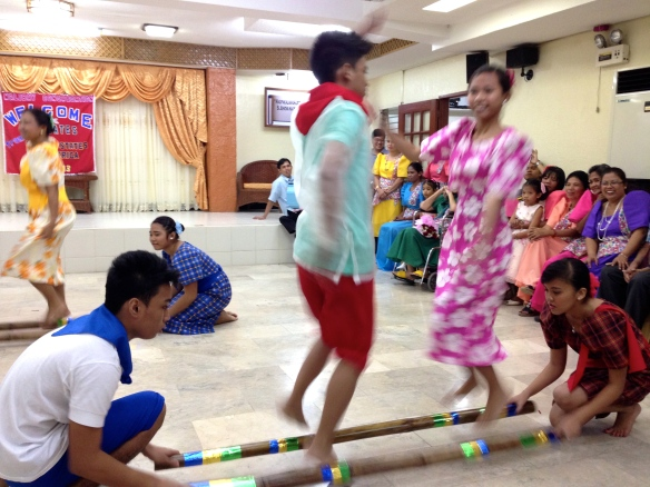The very tricky Tinikling Bamboo Dance.
