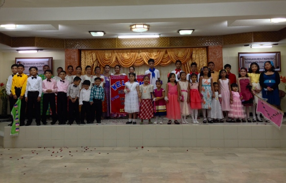 All of the children in the congregation performed for us a beautiful song.