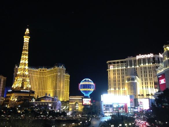 Enjoying The Strip at night.